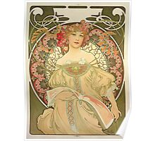 'Obraz' by Alphonse Mucha (Reproduction) Poster