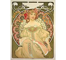 'Obraz' by Alphonse Mucha (Reproduction) Photographic Print