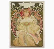 'Obraz' by Alphonse Mucha (Reproduction) Kids Clothes