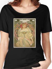'Obraz' by Alphonse Mucha (Reproduction) Women's Relaxed Fit T-Shirt