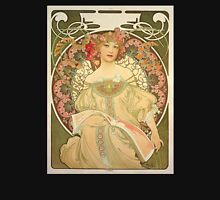 'Obraz' by Alphonse Mucha (Reproduction) Womens Fitted T-Shirt