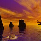Cetacean Sunset by Wizard