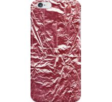 Texture of red foil. iPhone Case/Skin