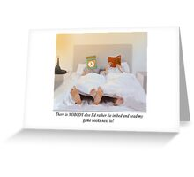 Valentine's Day: In Bed Next To Greeting Card
