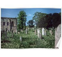 Graveyard St Cuthberts, Norham Northumbria England 19840529 0061m  Poster