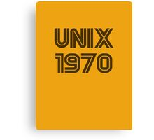 Unix 1970 Canvas Print