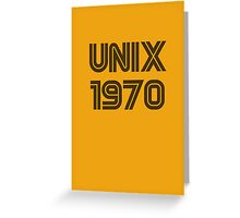 Unix 1970 Greeting Card