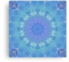 Blue and Turquoise Pattern Canvas Print
