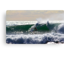 Surfer at Warriewood beach NSW Canvas Print