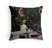 Keith and the magical bubble machine Throw Pillow