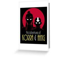 The Adventures of Korra & Aang Greeting Card