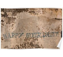 Happy Hour Drink Poster