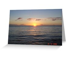 sunset somewhere in Brazil coast. Greeting Card