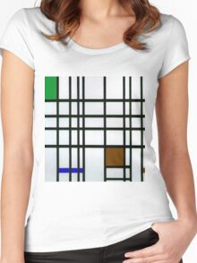 Composition in Sad Frog Women's Fitted Scoop T-Shirt