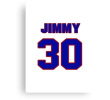 National football player Jimmy Gunn jersey 30 Canvas Print