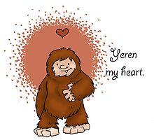 Bigfoot Valentine: Yeren by Kit Fox