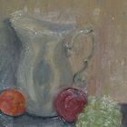 Still life, Picture and fruit by Elsie  Duggan