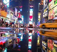 Time square reflection by yuca
