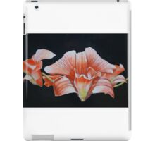 Cambodian orchids on a black background iPad Case/Skin