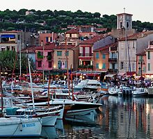 Cassis, French Riviera, in the Summer at Dusk by atomov