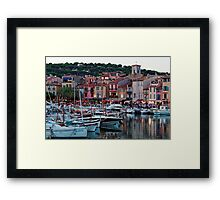 Cassis, French Riviera, in the Summer at Dusk Framed Print
