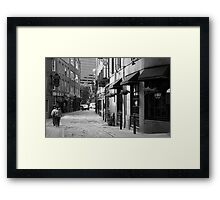 A Walk in Boston Framed Print