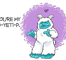 Bigfoot Valentine: Yeti by Kit Fox