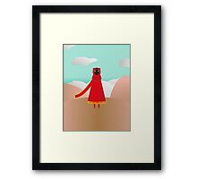 Red Traveler Framed Print