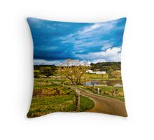 Cloud Covered Country Throw Pillow