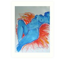 Blue Nude #3 Art Print