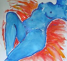 Blue Nude #3 by Virginia McGowan