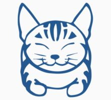 Happy Cat - Tabby  (blue) -Small pic by artbyakiko