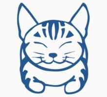 Happy Cat - Tabby  (blue) -Small pic by artbyakiko