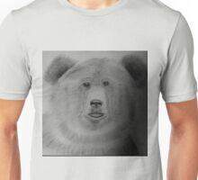 Brown Bear in Grey Unisex T-Shirt