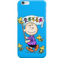 Wave that flag Charlie Brown iPhone Case/Skin