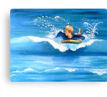 Boogie Boarder Canvas Print