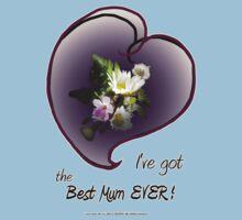 wildflower, Best Mum EVER! heart One Piece - Short Sleeve