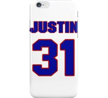 National football player Justin Bethel jersey 31 iPhone Case/Skin
