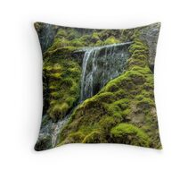 By a small waterfall Throw Pillow