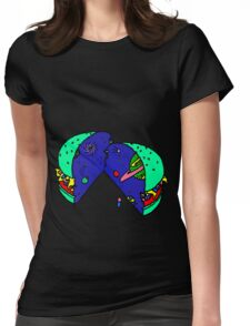 SPACE BURGER by RADIOBOY Womens Fitted T-Shirt