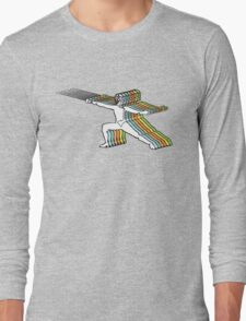 Fencer In Color Motion Long Sleeve T-Shirt