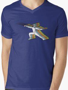 Fencer In Color Motion Mens V-Neck T-Shirt