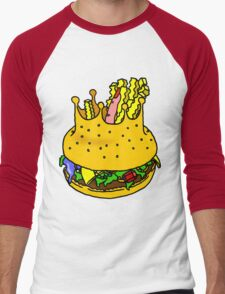 KING'S BURGER by RADIOBOY Men's Baseball ¾ T-Shirt