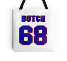 National football player Butch Lewis jersey 68 Tote Bag