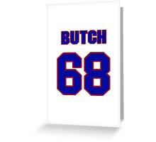 National football player Butch Lewis jersey 68 Greeting Card
