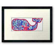 Lilly Pulitzer Whale She Sells Sea Shells Framed Print