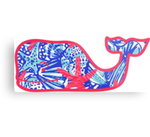Lilly Pulitzer Whale She Sells Sea Shells Metal Print