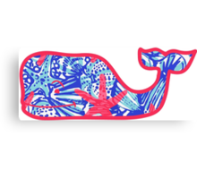 Lilly Pulitzer Whale She Sells Sea Shells Canvas Print