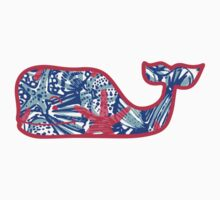 Lilly Pulitzer Whale She Sells Sea Shells by annaw9954