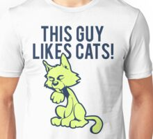 Funny Cat T-shirt This Guy Likes Cats Cute Unisex T-Shirt